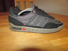 Adidas  Mens Black Suede With Red Detail Trainers.. UK 9
