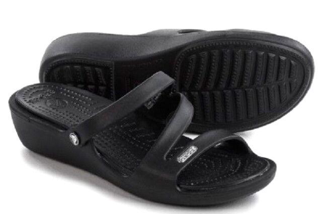 aa0a3ca4b037d Crocs Patricia Womens Size 9 Black Open Toe Slides Sandals Shoes for ...