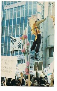 President-JIMMY-CARTER-Burned-Effigy-Iran-POSTCARD-Iranian-Revolutionaries-1981