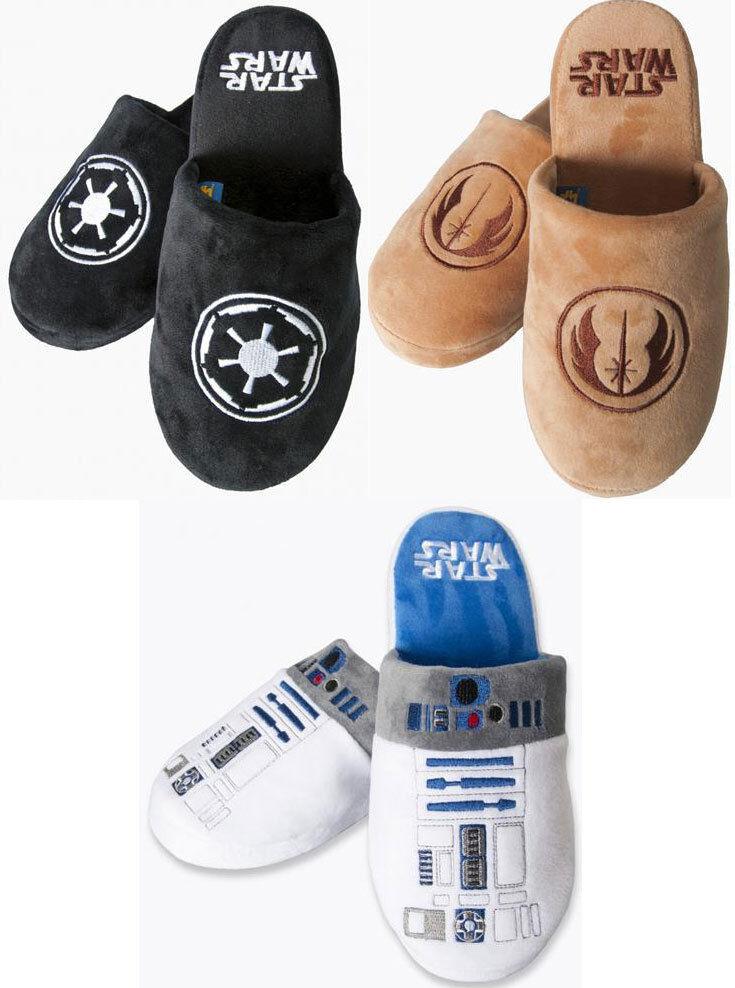 Star Wars - Jedi Empire / R2-D2 / Galactic Empire Jedi Embroidered Mule Slippers Lucasfilm 97c036