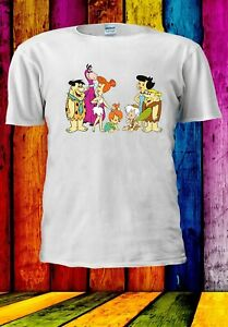I-Flintstones-Fred-Wilma-Barney-Betty-TAM-TAM-Uomini-Donne-Unisex-T-shirt-3650