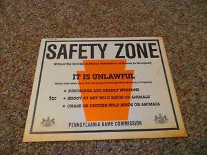 Zone De Sécurité Pa Jeu Commission 1987 Il Est Illégal En Carton Signe-afficher Le Titre D'origine