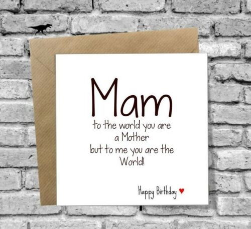 FUNNY MAM BIRTHDAY CARD LOVE HEART 40TH 50TH 60TH 65TH 70TH 75TH ANY AGE WORLD