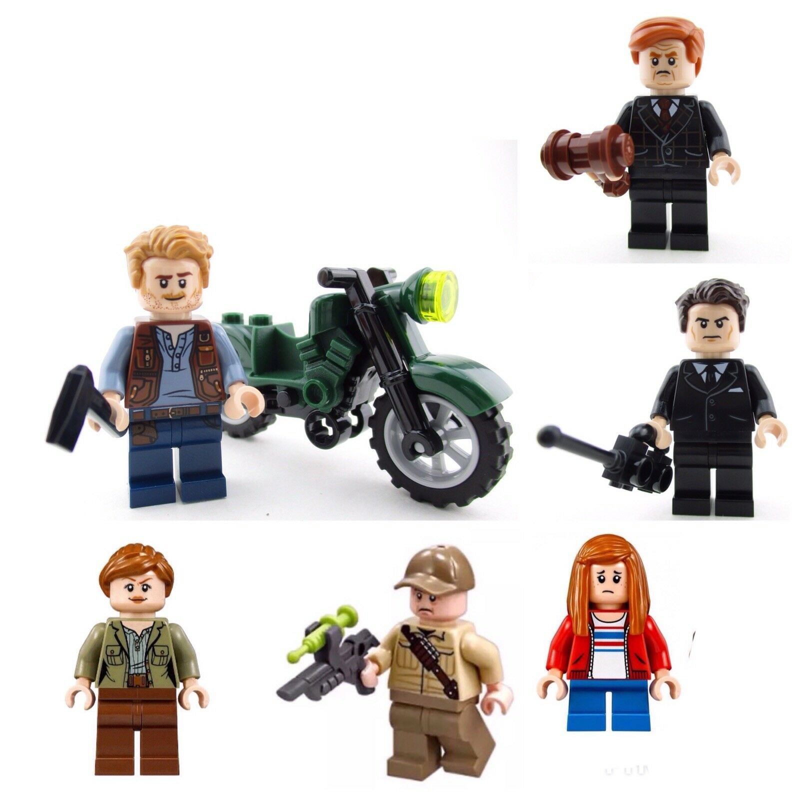 Lego 75930  Jurassic world minifigures+accessories bike(only)New split from set