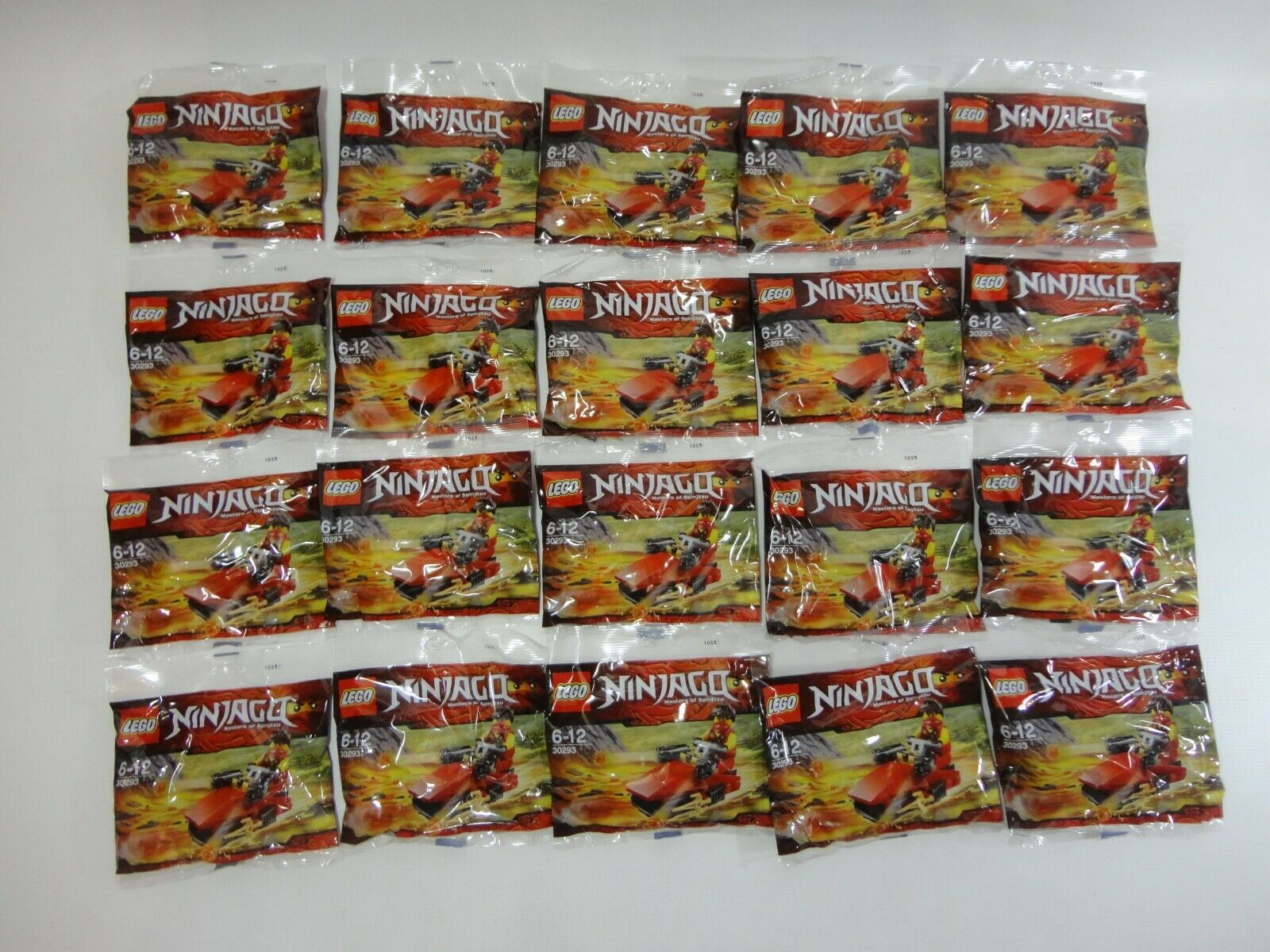 20 x Lego 30293 Ninjago Kai Drifter Polybags Tournament of Elements NEW Minifig