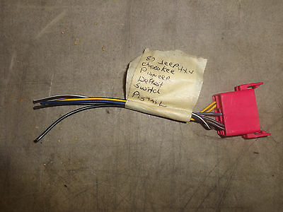 Defrost Switch Wire Harness 87 88 89 90 Jeep Cherokee White Pioneer on 2005 jeep wiring harness, jeep wiring harness kit, jeep grand cherokee stereo wiring, jeep cherokee wiring from firewall, jeep transmission wiring harness, pontiac bonneville wiring harness, geo tracker wiring harness, jeep radio wiring harness, jeep cherokee speaker wiring, jeep patriot wiring harness, jeep electrical wiring schematic, jeep grand wagoneer wiring harness, jeep commander wiring harness, jeep cj5 wiring harness, amc amx wiring harness, jeep jk wiring harness, jeep 4.0 wiring harness, jeep trailer diy, 2001 jeep wiring harness, mazda rx7 wiring harness,