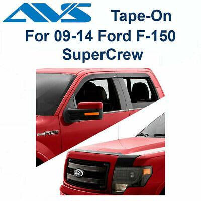 AVS 774011 Low Profile Matte Black 4 Pc VentVisor 2009-2014 Ford F-150 SuperCrew