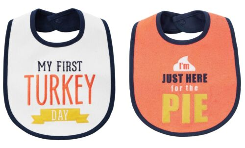 NEW Carter/'s Boys or Girls 1st Thanksgiving Turkey Day Bib Here for the Pie