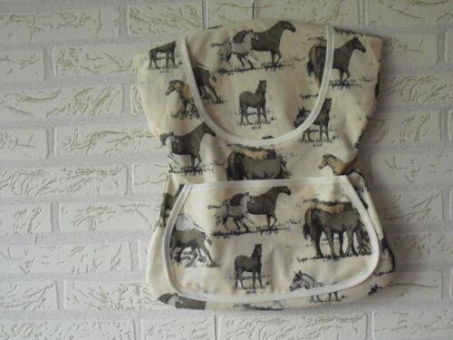 Klammerbeutel Klammerkleid Klammersack Wäschekleid Pferde