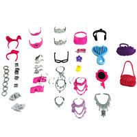 40 Pcs Fashion Mix Styles Accessories Shoes Set Clothes Outfits For Barbie Doll