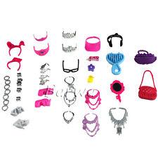 40 PCS Fashion Accessories Shoes Set Clothes Outfits Lot for Barbie Doll RANDOM