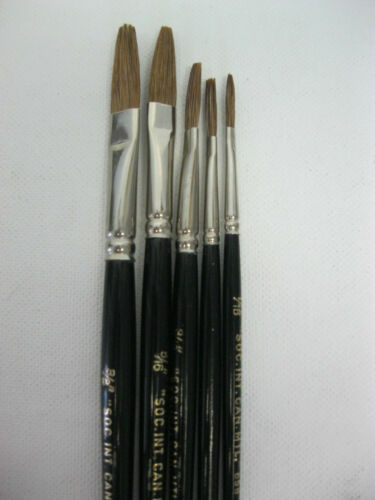 Signwriter Lettering Brush OneStroke , 5 sizes or Set of 5 Made in Germany