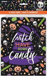 95//100 Selbstklebende Halloween Süßigkeiten Cellotasche Party Süßes Saures H7K5