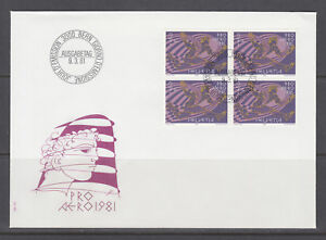 Switzerland Sc B479/'B512 FDC.1981-84 semi postals 8 sets in blocks of 4, 30 FDC