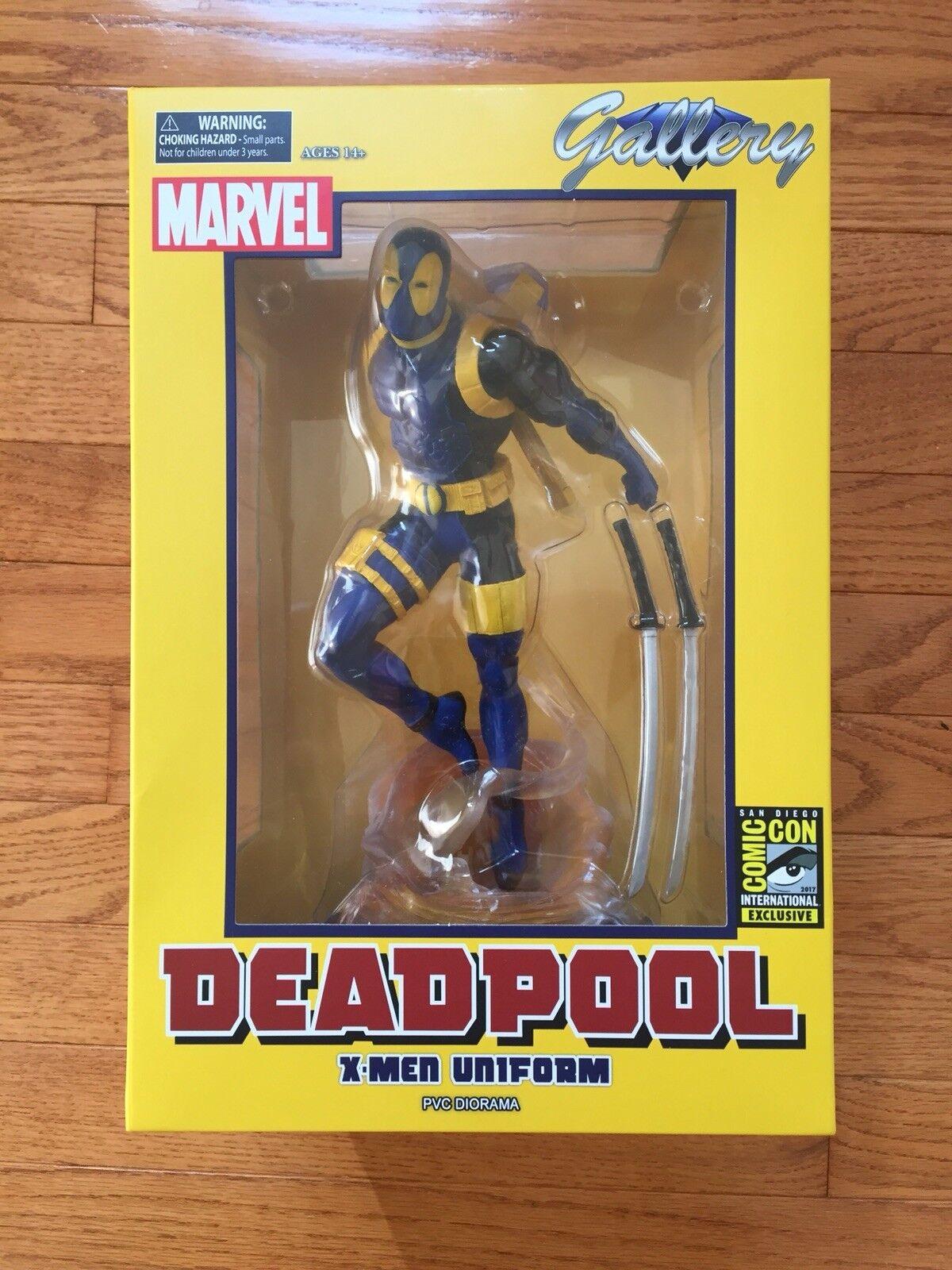 Marvel Gallery Deadpool X-Men Uniform PVC Diorama SDCC 2017-New in Box