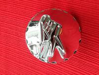 Hayabusa Parts Chrome 3d Yolk Plug W/ Kanji & Diamond Cut Edges - Very Rare Item
