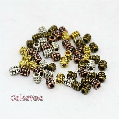 Oval faceted 50 x Copper Spacer Beads 4mm