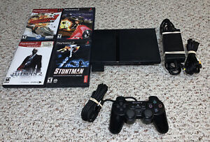 PS2 Slim Playstation 2 Console SCPH-70012 Bundle System Lot w/ Games