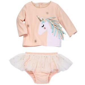288c45a9ac Details about Mud Pie Kids Unicorn and Stars Rash Guard Swimsuit 2 Piece  Girls Set