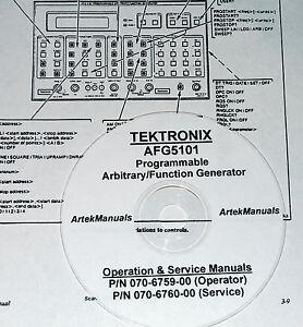 Business & Industrial Tektronix AFG 5101 AFG 5501 Operators Manual ...
