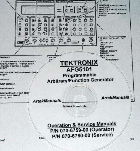TEK AFG5101 AFG5501 SERVICE /& OPERATORS MANUALS 2 VOLs.