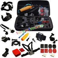 Accessories Set Kit 30 in 1 for Gopro Hero 4 3+ 3 2 Bag Monopod Head Chest Strap