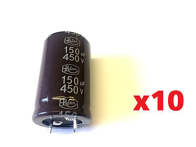 A549 CAPACITOR 150uF 450V LELON 105°C M PACK OF 10