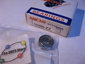 SS686-ZZ-Amcan-Miniature-Ball-Bearing-Original-Box-NOS-Qty-1