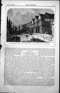 Old-Antique-Print-Abode-Architectural-Museum-Canon-Row-Westminster-1857-19th