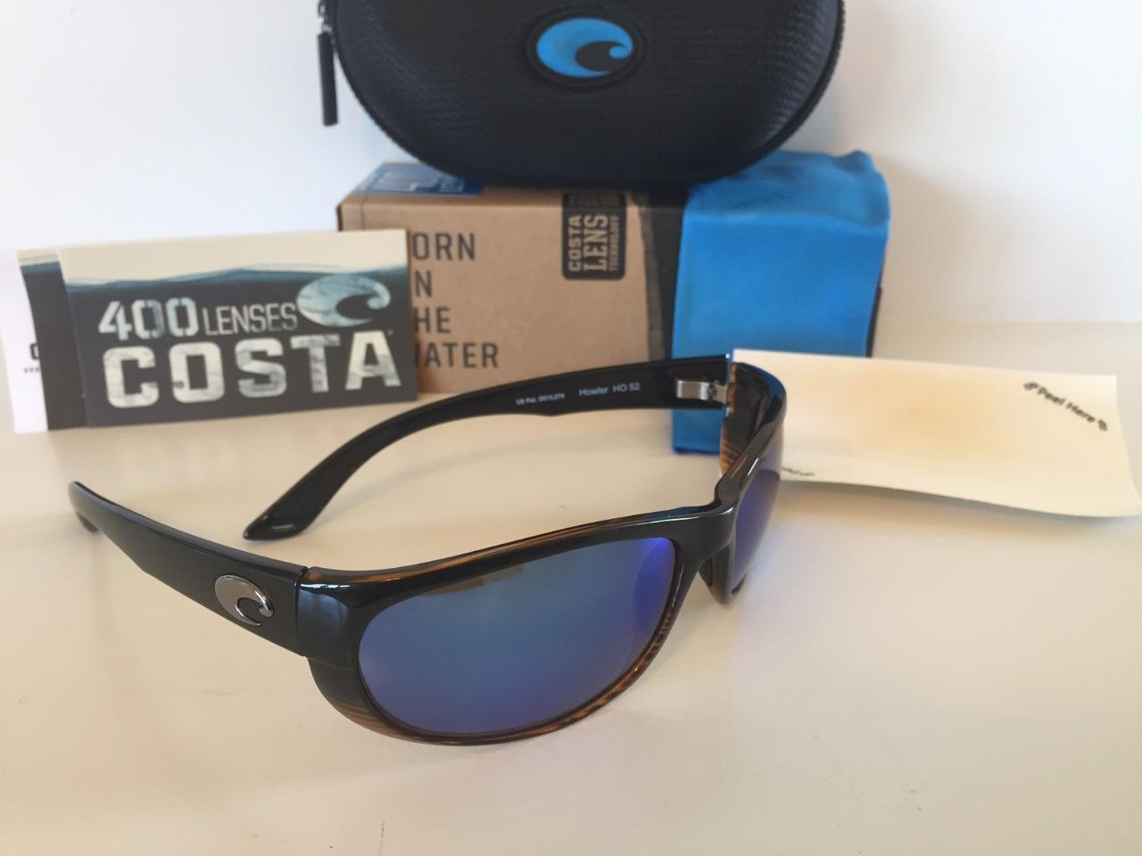 New Costa del Mar Howler Polarized Sunglasses Coconut Fade bluee 400G Glass Fish