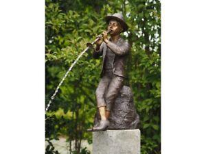 Junge mit Flöte Bronze Skulptur Deko Haus Garten Wasserspeier Musiker Teich NEU - Gronau, Deutschland - Junge mit Flöte Bronze Skulptur Deko Haus Garten Wasserspeier Musiker Teich NEU - Gronau, Deutschland