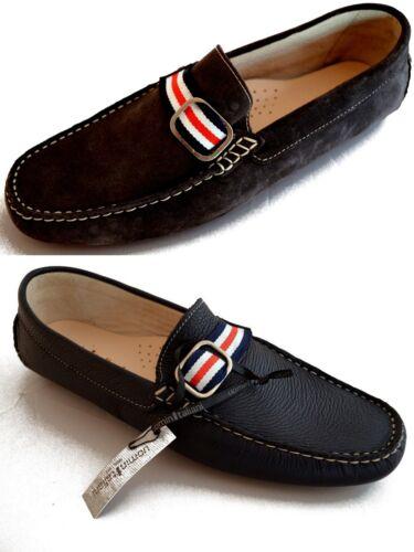 Uomini Uomo scarpe Hi Men Leather Italy Made Loafers In Italiani Scarpe Mocassini agHwq0B