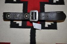 Ralph Lauren RRL Stud Distressed Tooled Leather Belt 42