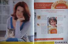 PUBLICITÉ DE PRESSE 1997 GEL BELLE COLOR DE GARNIER - CHAT - ADVERTISING