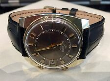JAEGER LECOULTRE MEMOVOX Gold Capped Vintage Square Alarm 1960s Watch - Rare