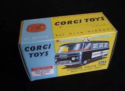 Corgi 464 Commer Police Van Empty Repro Box