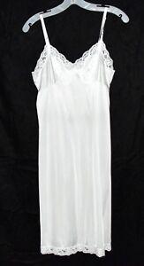 vintage white nylon lace slip size small 32 van roable brand usa