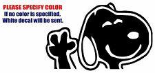 "Snoopy Dog Waving  Funny Vinyl Decal Car Sticker Window bumper laptop tablet 7"""