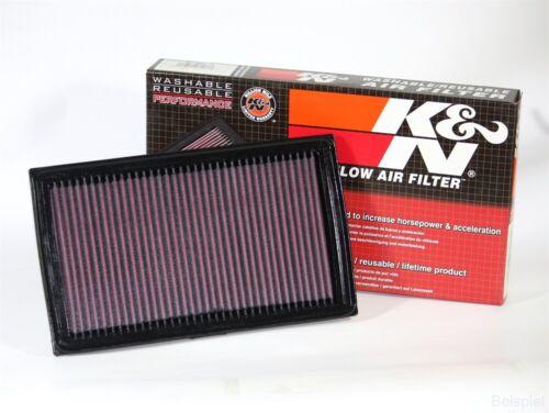 K/&N Filter für Volvo S 80 2 Bj.7//06 Luftfilter Sportfilter Tauschfilter