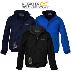 Mens-Regatta-Dover-Jacket-Fleece-Lined-Waterproof-Hood-Full-Zip-Hydrafort-New