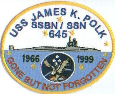US NAVY SHIP PATCH, USS JAMES K. POLK, SSBN-645       Y