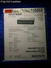 Sony Service Manual CDX F5500 /F5505X CD Player (#4179)