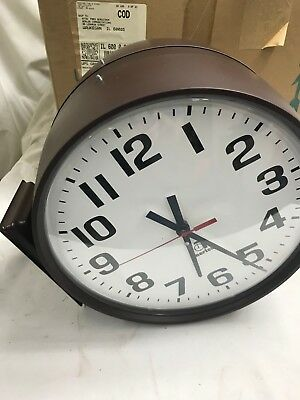 Time Clocks American Time E53nadd201 Double Sided Clock Jx4 Good For Energy And The Spleen Office