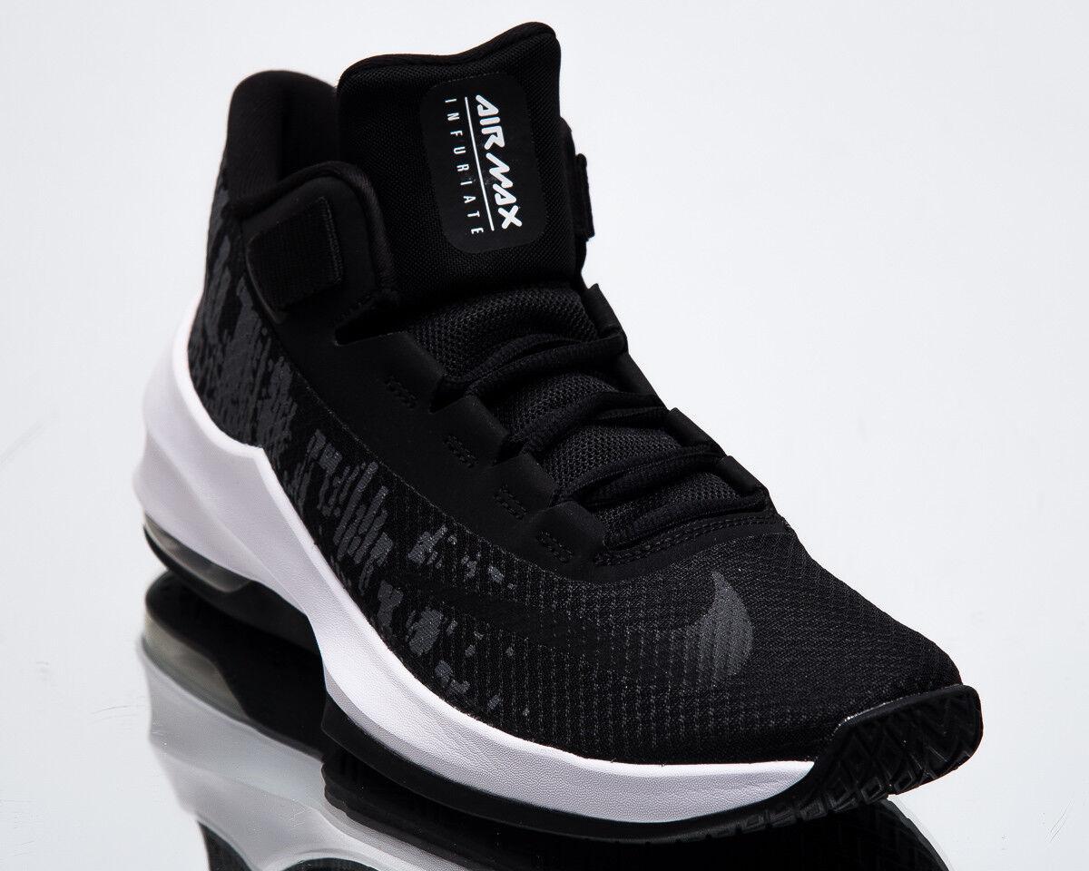 Nike Air Max Infuriate 2 Mid Basketball homme New noir blanc Basketball Mid Baskets AA7066-001 1a4cd0