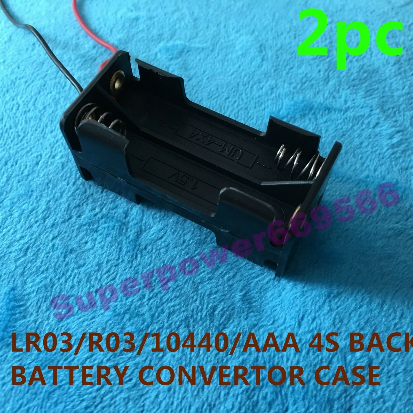 2PC FOUR slot clip plastic connector BACK TO BACK holder for LR03 R03 AAA 10440