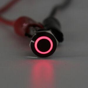Universal 4Pin 12mm LED Light Metal Push Button Momentary Switch Waterproof