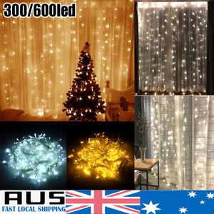Curtain-Fairy-Light-String-300-600LED-Wedding-Indoor-Outdoor-Xmas-Garden-Party