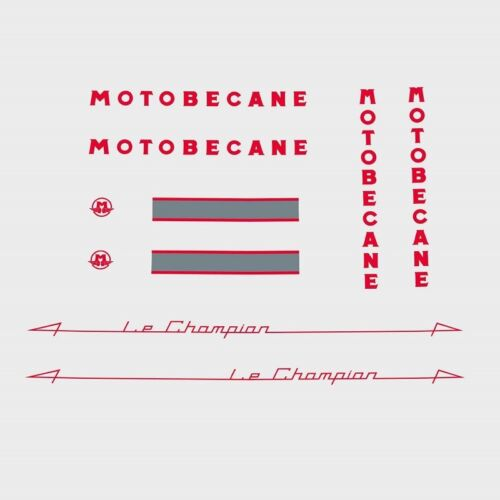 Transferts,Rouge,N.551 Decals Motobecane le Champion Bicycle Cadre Stickers