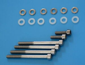 DUCATI-750SS-900SS-MONSTER-900-STAINLESS-STEEL-CLUTCH-BOLT-NYLON-WASHERS-KIT