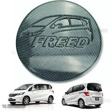 Black Kevlar Fuel Oil Cap Tank Cover Trim For Honda Freed 4D Hatchback 2010-2016